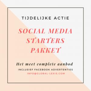 Social Media Starters Pakket voor bedrijven