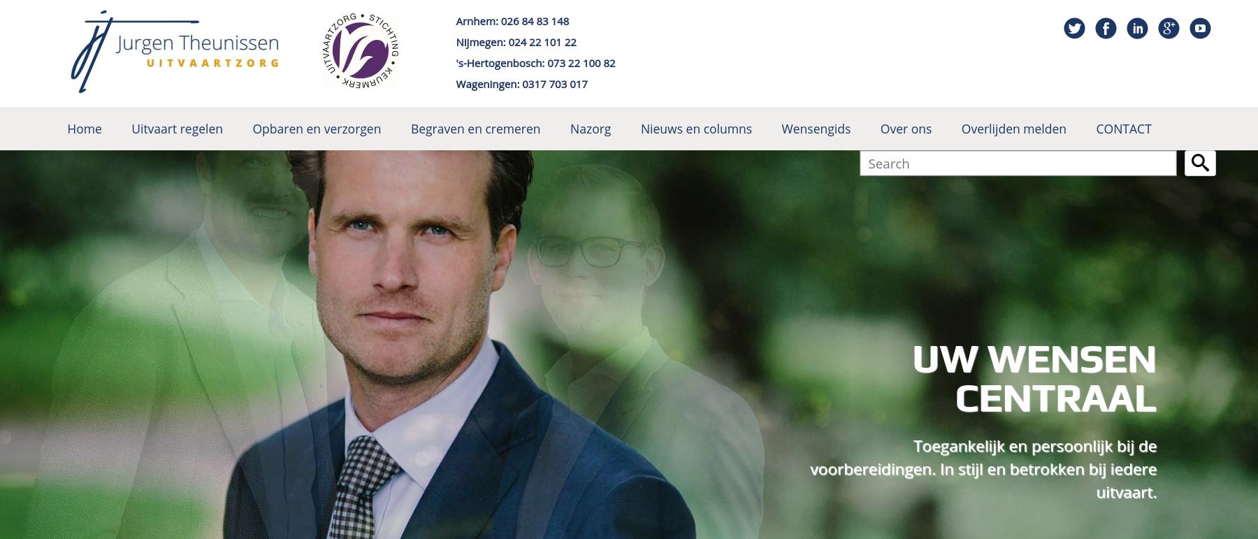 Voorbeeld website GLOBAL LEXIS Online Marketing